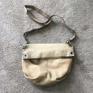Kate Landry distressed leather hobo crossbody bag